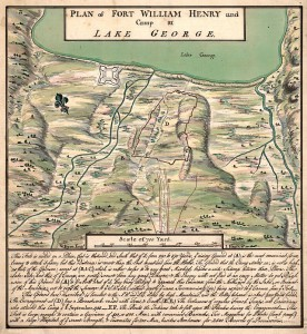 Plan Fortu William Henry/ Źródło: http://commons.wikimedia.org/wiki/Category:Maps_of_the_Siege_of_Fort_William_Henry#mediaviewer/File:Plan_of_Fort_William_Henry_on_Lake_George.jpg