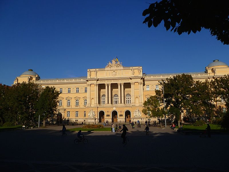 Uniwersytet lwowski/ Źródło: http://commons.wikimedia.org/wiki/Category:Main_building_of_Lviv_University?uselang=pl#mediaviewer/File:Lviv_national_university-2013.JPG