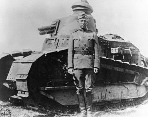 George Patton we Francji w roku 1918/ Źródło: Wikimedia Commons