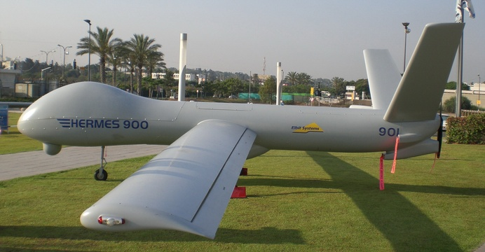 Elbit Hermes 900. / Wikimedia Commons