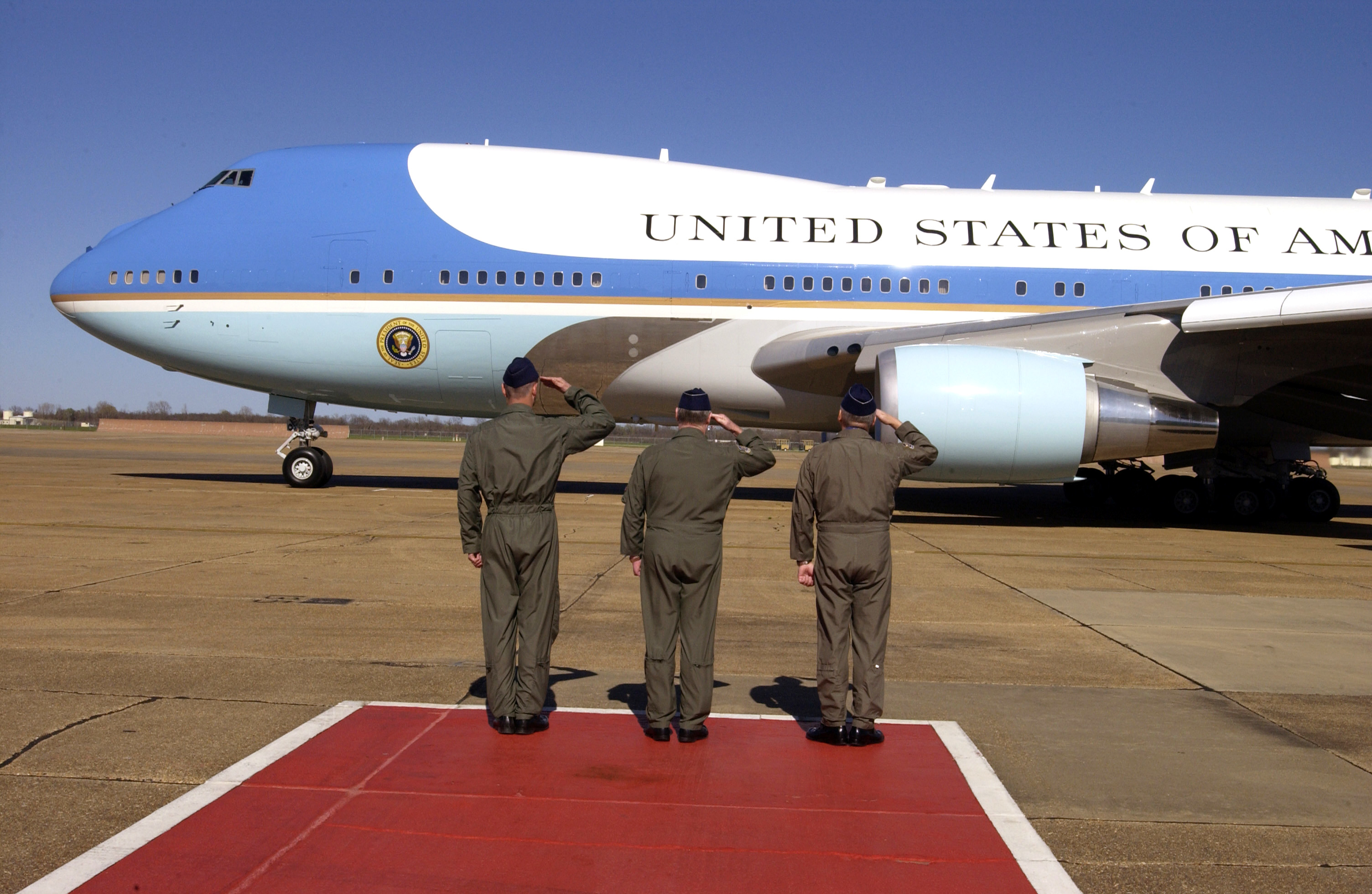 Air Force One - VC-25A. (U.S. Air Force photo by Master Sgt. Michael A. Kaplan)