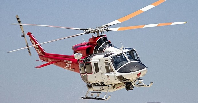 Bell 412EP należący Los Angeles Fire Department. (Wikimedia Commons)