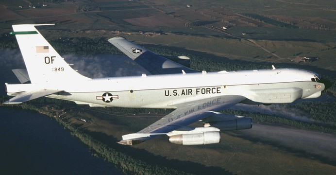 RC-135U Combat Sent z Offutt Air Force Base (Nebraska). / Wikimedia Commons.