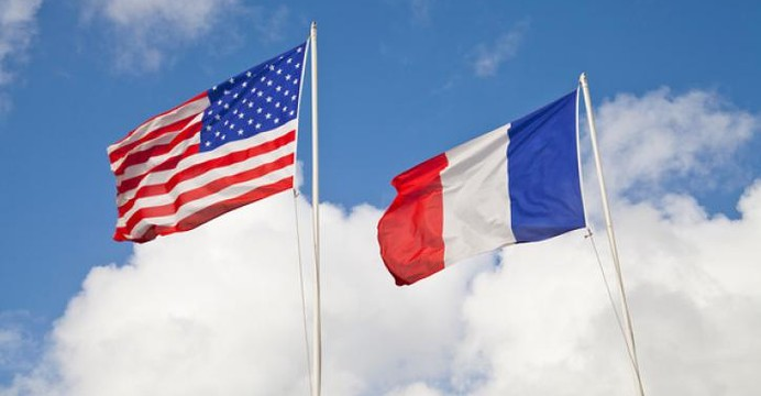USA France flags