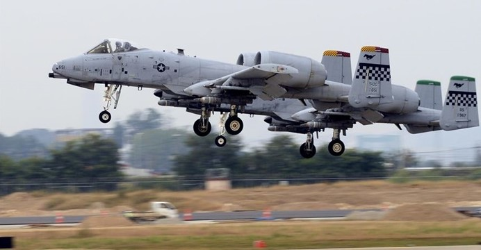 A-10 Thunderbolt II  (U.S. Air Force photo by Capt. Robert Howard/Released)
