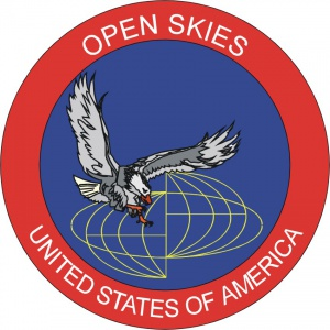 Amerykańska odznaka Open Skies. / Wikimedia Commons (U.S. Air Force).