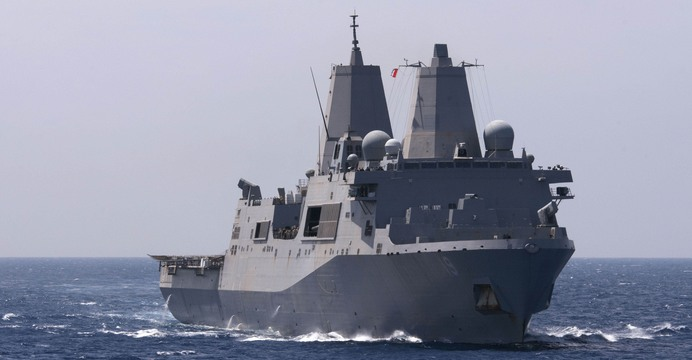 USS Mesa Verde>/em> (LPD-19) / U.S. Navy photo by Mass Communication Specialist 1st Class Martin Cuaron/Released.
