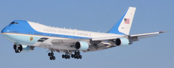 VC-25 Air Force One. / Wikimedia Commons (Air National Guard Photo by Master Sgt. Stacey Barkey/Released).